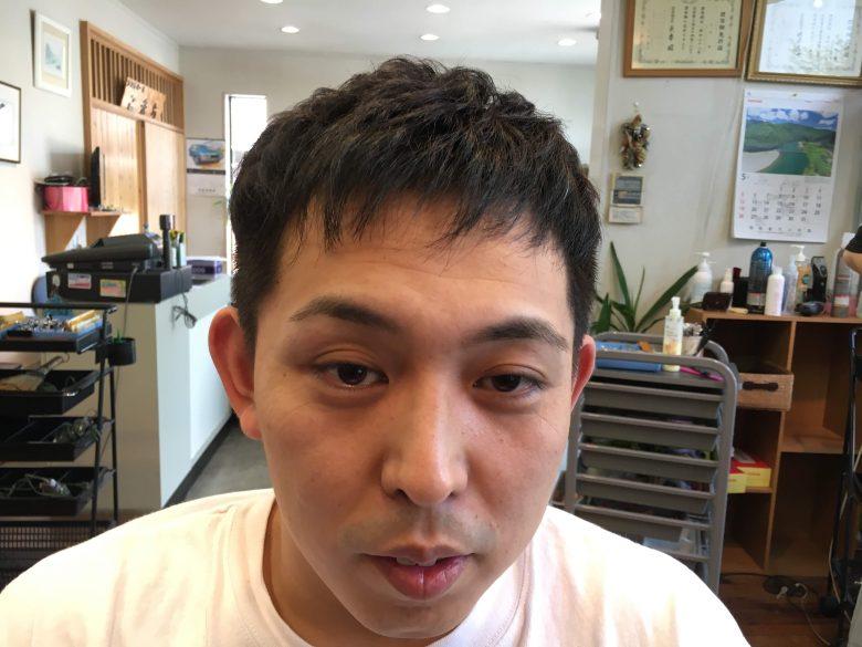 ツーブロック失敗でカッパみたいに立った髪の修正方法
